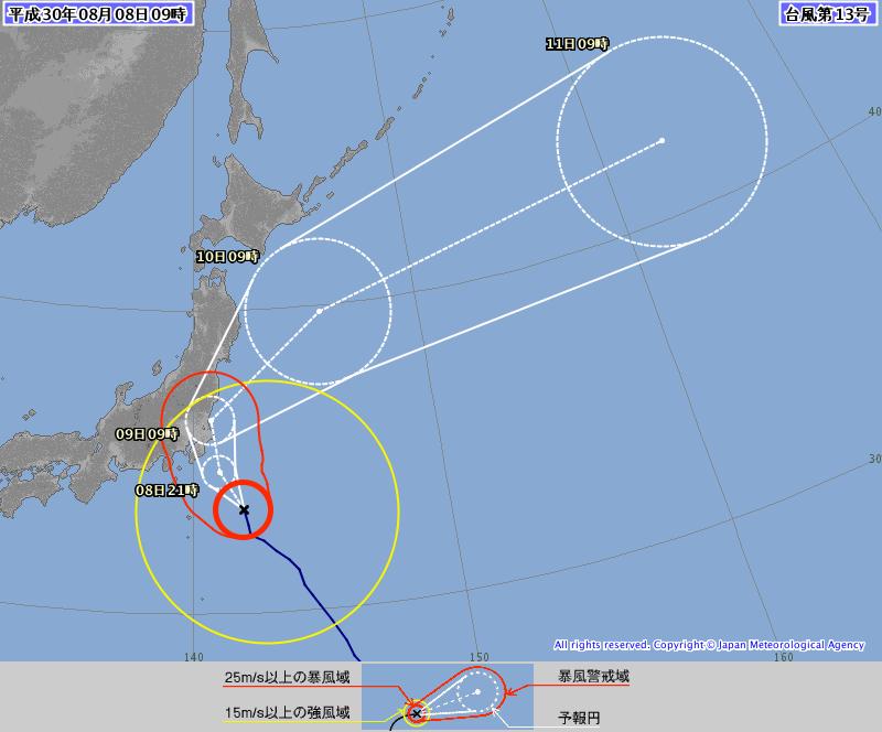 根據日本氣象廳發表的中颱珊珊路徑,今日晚間將接近日本關東地區,之後延日本太平洋岸...