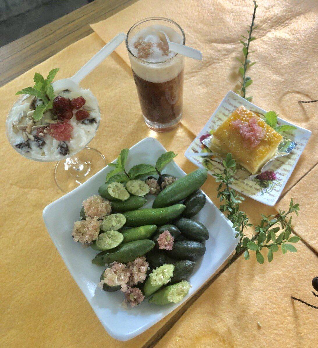 手指檸檬的用途多樣化,可用來製作蛋糕、握壽司、沙拉等創意美食。記者吳淑玲/攝影