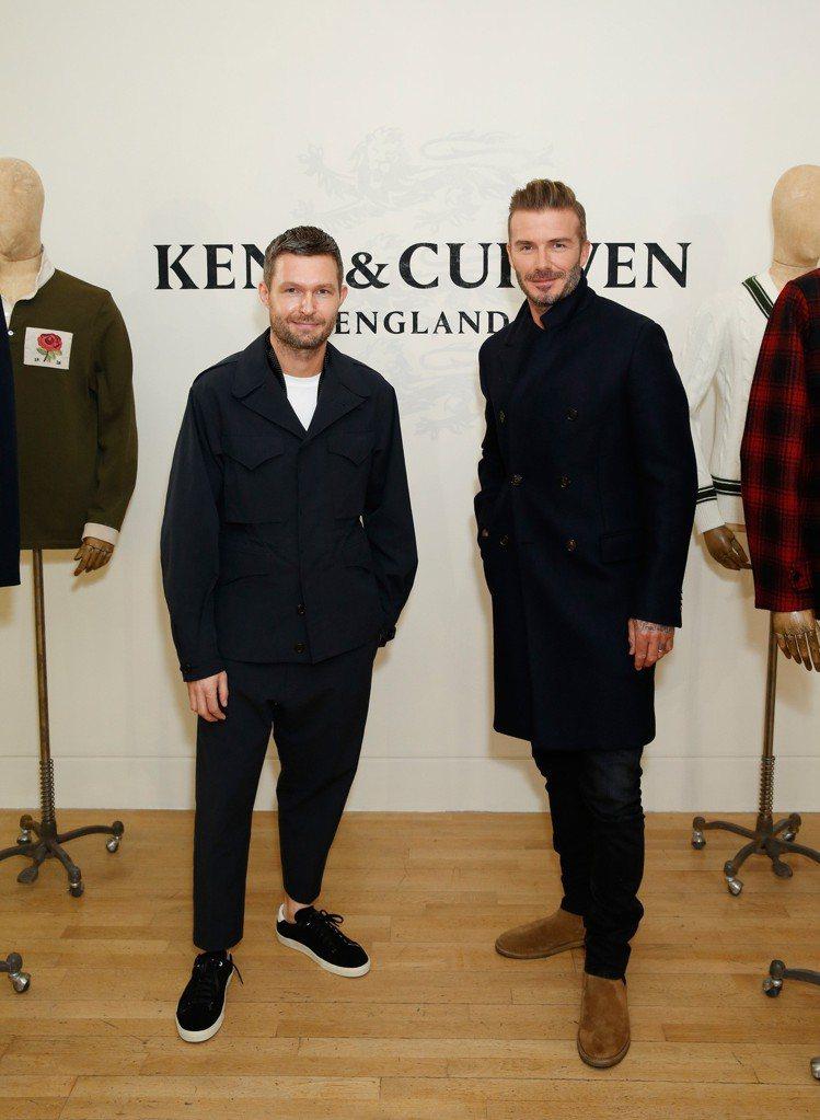 貝克漢(右)是許多人心中的時尚指標。圖/Kent & Curwen提供