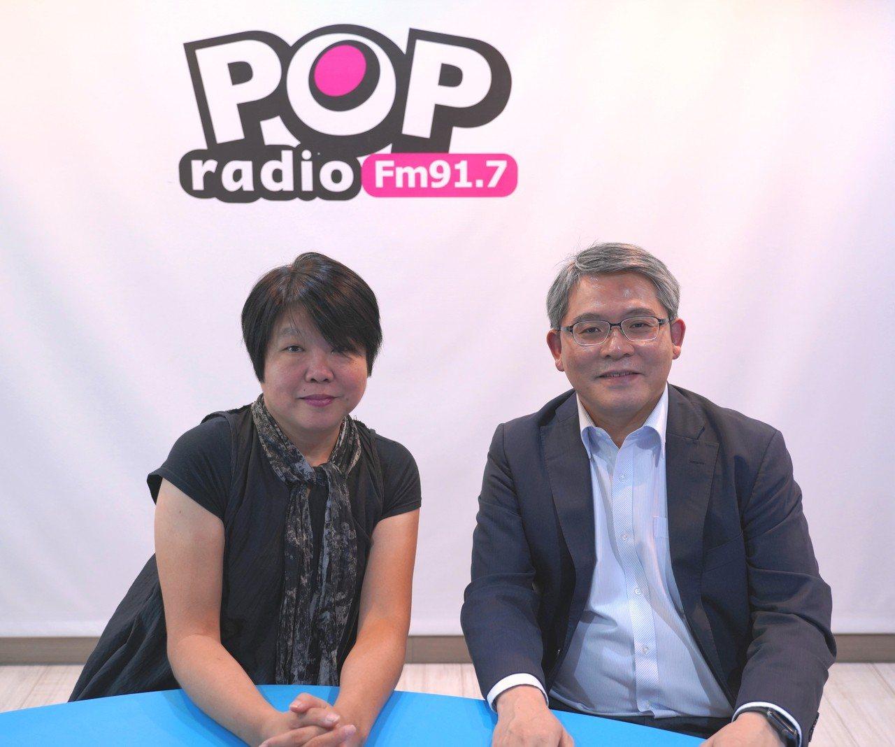 內政部次長花敬群(右)今接受廣播節目採訪。圖/「POP搶先報」提供