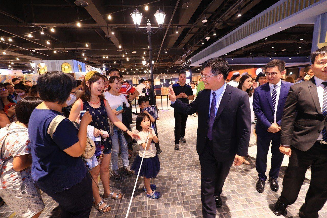 台中文心秀泰今天開幕,市長林佳龍出席。記者喻文玟/攝影