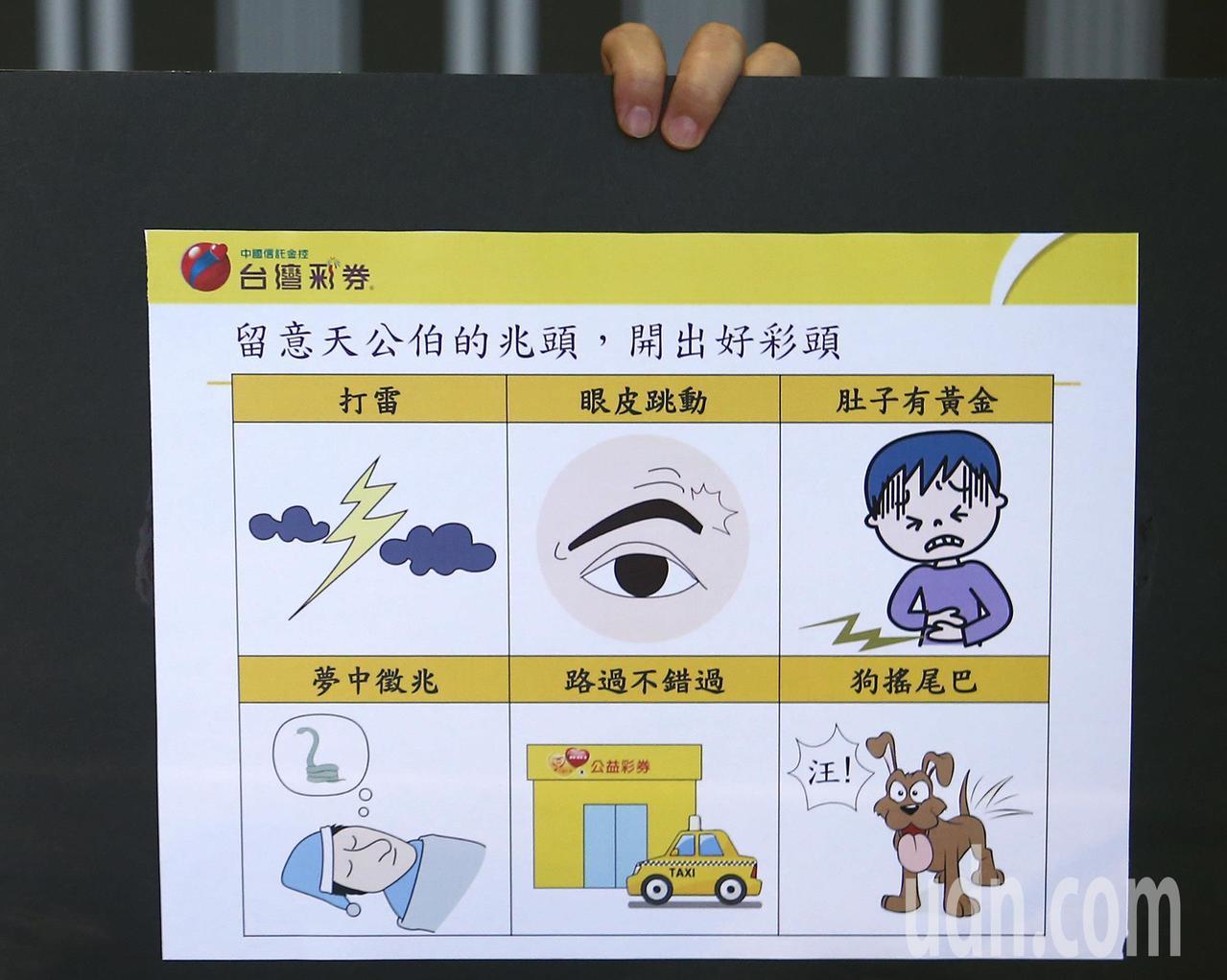 台灣彩券公司總經理蔡國基請民眾留意身邊這些情況和跡象,很有可能是中大獎的前兆。記...