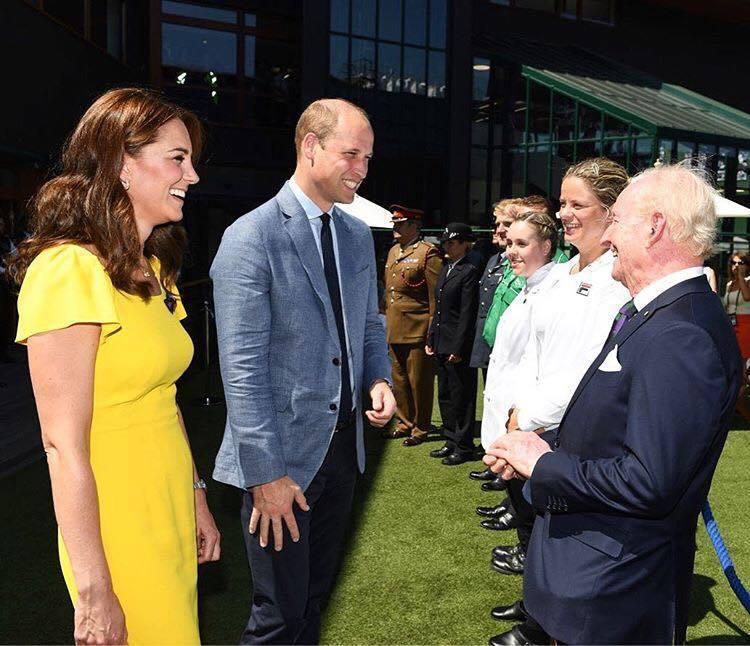 凱特王妃效仿梅根一身鮮黃出席溫布頓網球賽。圖/取自IG @kensingtonr...