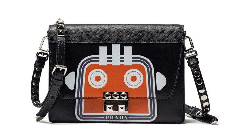 機器人印花Electra鍊帶包,73,500元。圖/PRADA提供