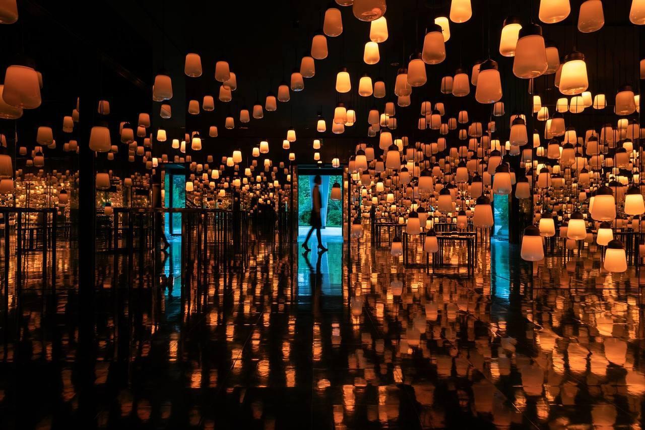 御船山樂園的燈海,隨手拍都成一幅美景。圖/取自御船山樂園官方粉絲團專頁