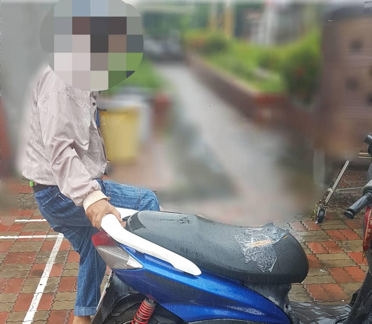 枋寮警分局石光派出所員警根據車牌循線找到當地一名40歲的陳姓嫌犯。圖/警方提供