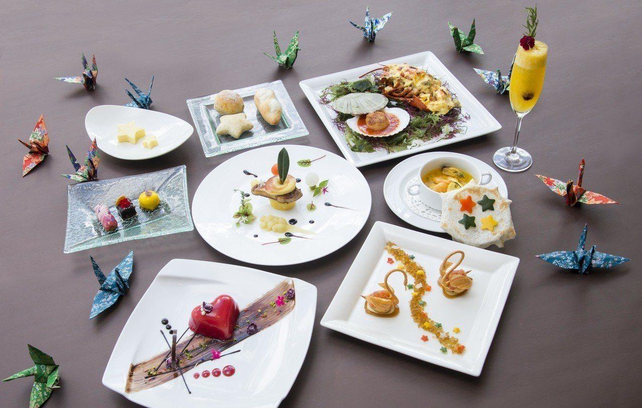 大倉久和飯店歐風館推出七夕法式情人節套餐。圖/大倉久和飯店提供