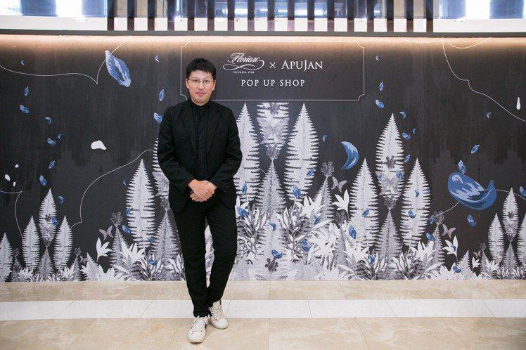 詹朴於台南新光三越西門店開設APUJAN快閃店。圖/APUJAN提供