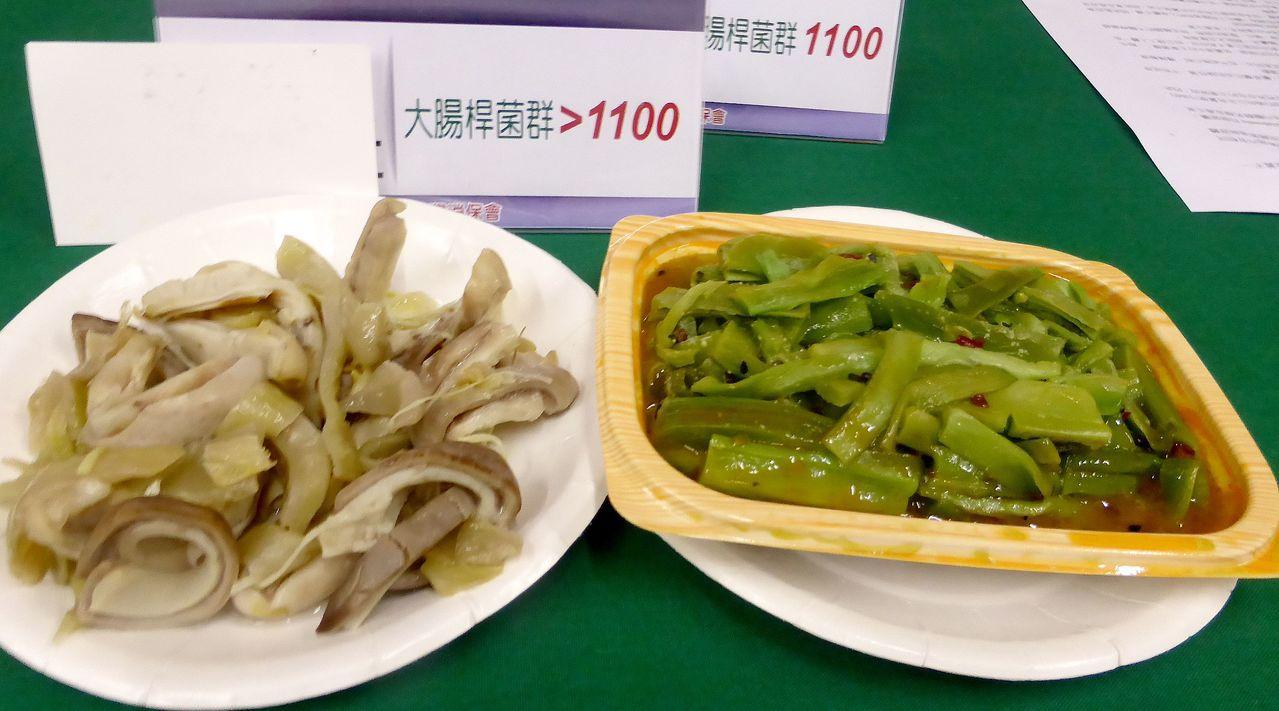 台灣消保會近期抽驗高雄、台南、屏東48家市場、大賣場攤商(店家)的熟食,結果顯示...