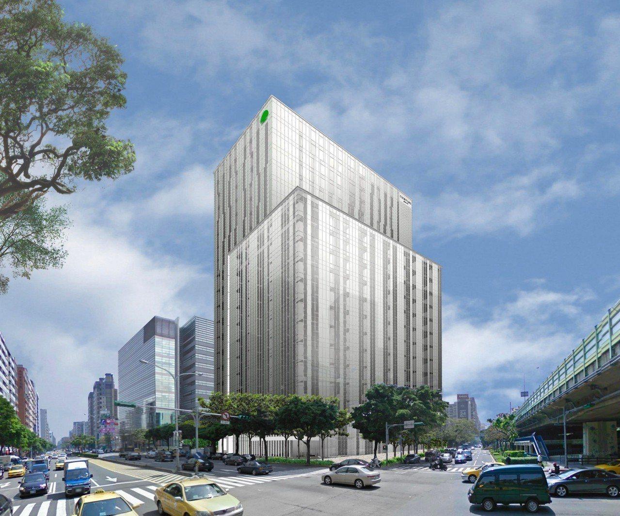台北(國泰)萬怡酒店外觀示意圖。 圖/國泰商旅提供