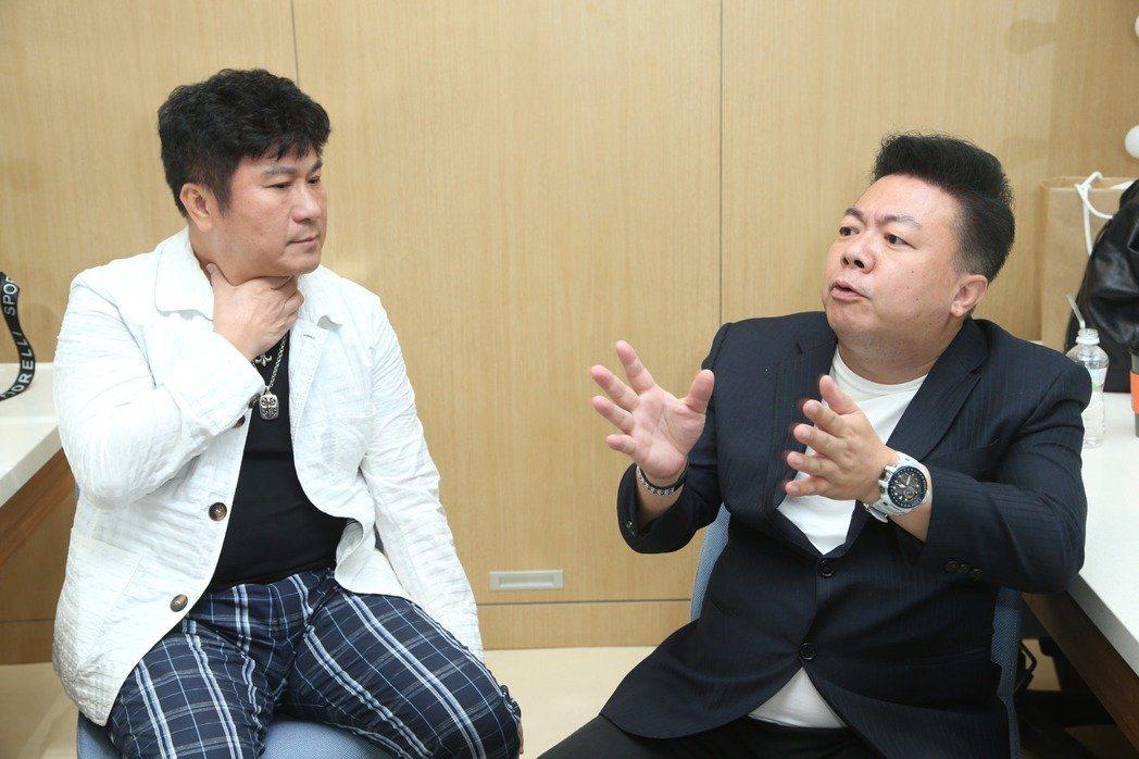 董至成(右)和胡瓜搭檔12年,離開節目後,胡瓜說「都沒聯絡了」。圖/本報資料照