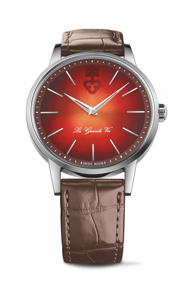 崑崙表La Grande Vie 系列自動上鍊鈦金屬腕表紅色款,12萬2,000...
