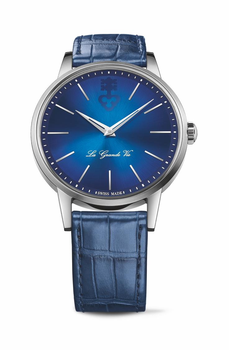 崑崙表La Grande Vie 系列自動上鍊鈦金屬腕表藍色款,12萬2,000...