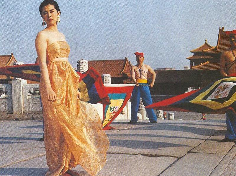 王祖賢在北京故宮拍的電視廣告曾引起許多話題。圖/摘自搜狐