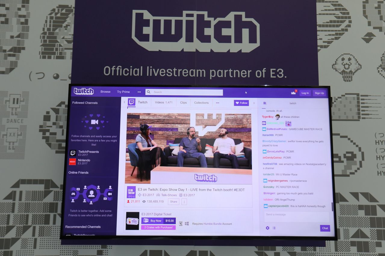 Twitch是電玩直播平台,每天活躍用戶大約是YouTube的一半。 (路透)