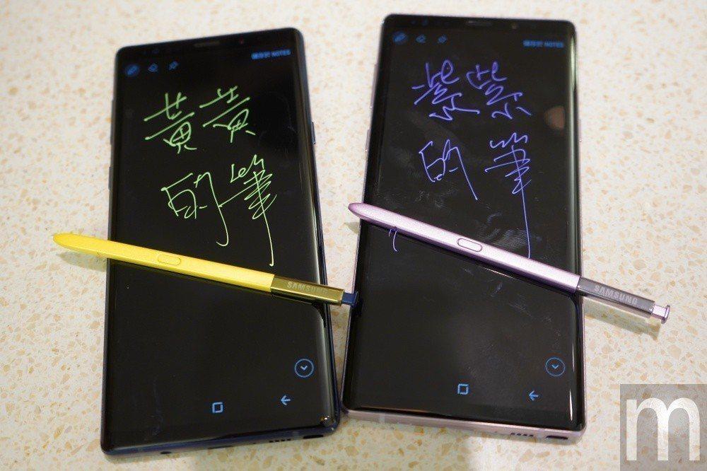 不同顏色的S Pen會對應不同顏色筆觸顏色