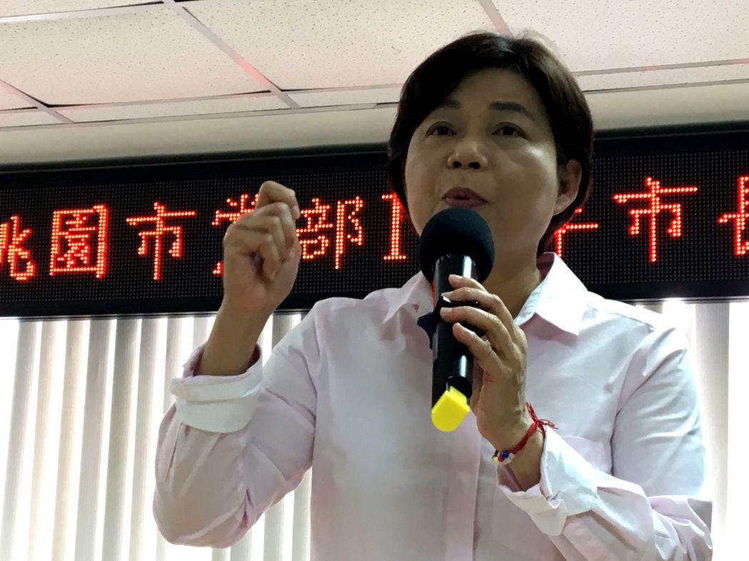 前立委楊麗環批民調不公,九日下午聲明退出國民黨。圖╱聯合報系資料照片