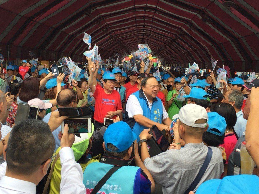 台南市警局退休局長陳子敬參選台南市長,讓高思博備受威脅。圖╱聯合報系資料照片