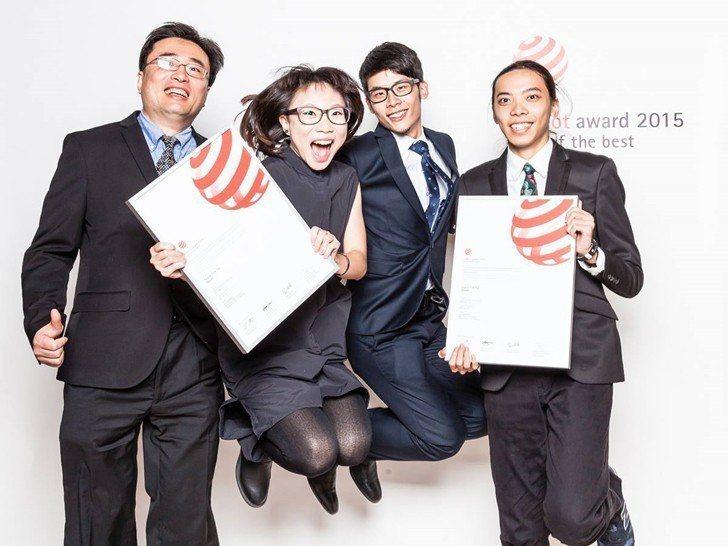 進修部學生獲紅點最佳設計獎,榮登紅點官網首頁。 致理科大/提供
