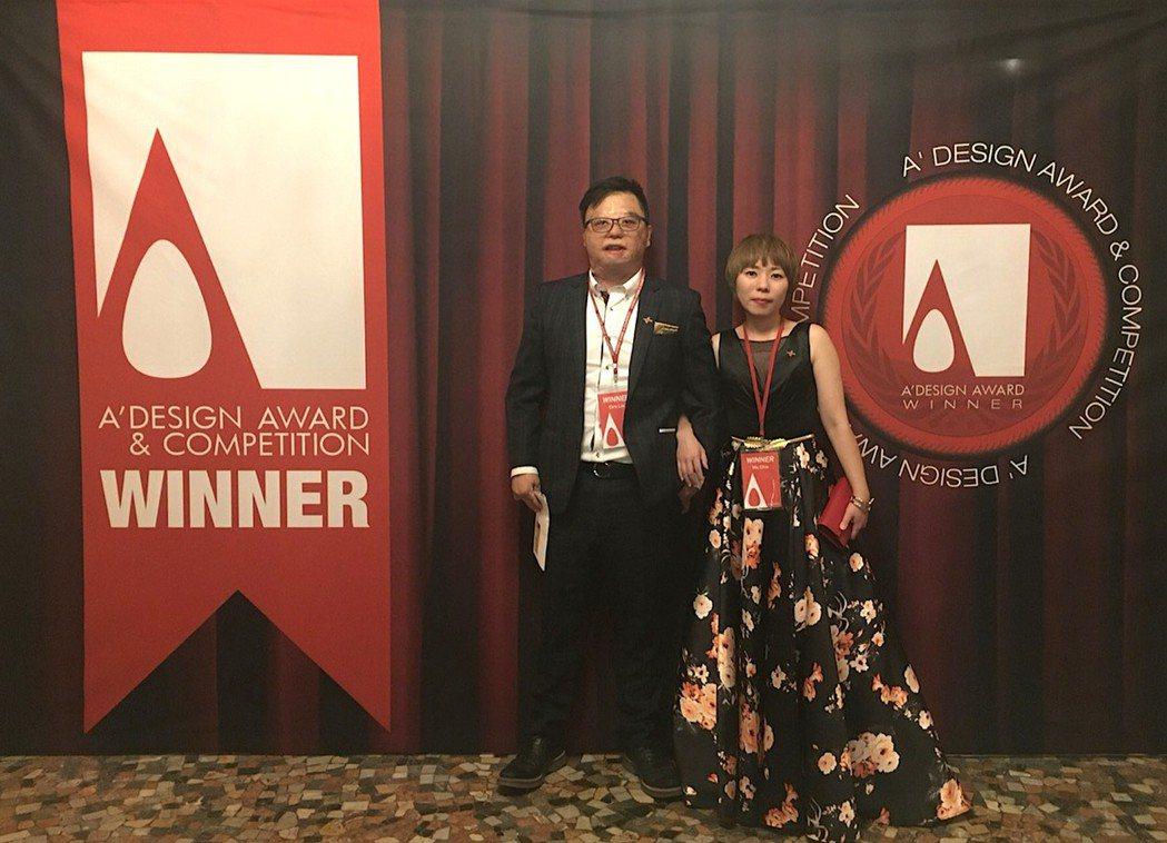 執行總監劉子旗(左)和設計總監高紫馨(右)共同帶領「奇拓室內設計」 業者/提供
