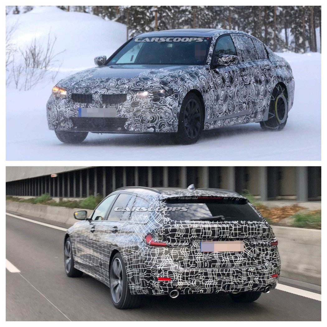 目前正如火如荼測試中的新世代BMW 3-Series Sedan/Touring。 摘自Carscoops