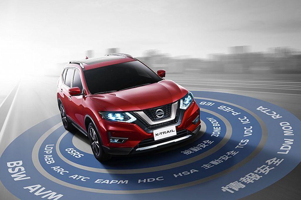 今年5月推出小改款的Nissan X-Trail,雖然安全防護科技大幅提升,但只有配在最頂級的2.5 4WD旗艦科技版上。 圖/Nissan提供