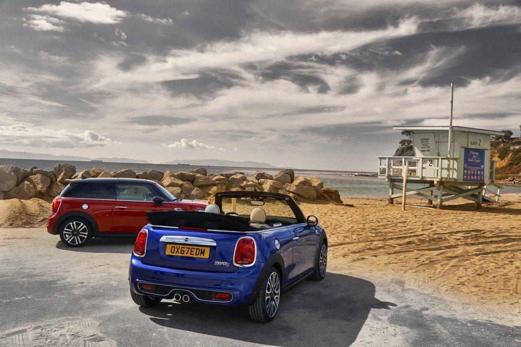 左MINI Cooper S五門掀背;右MINI Cabrio敞篷車。 圖/汎德提供