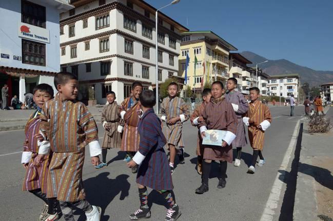 位在喜馬拉雅山的不丹用「幸福指數」來衡量國家發展。 法新社