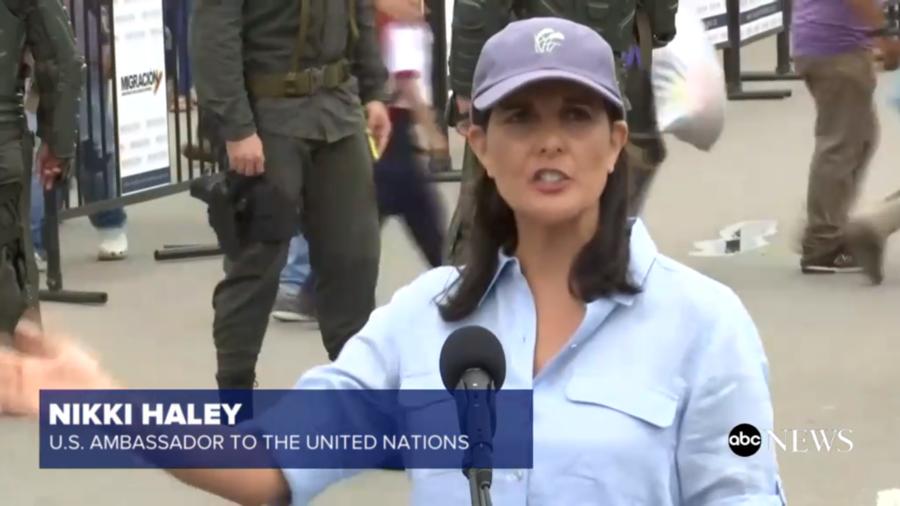 美國駐聯合國大使妮基.海莉到訪哥委邊界進行演說,表示為委內瑞拉難民的遭遇感到痛心...