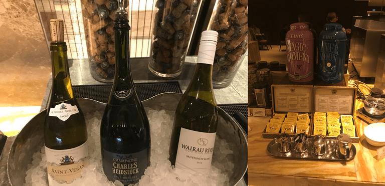 新加坡航空銀刃貴賓室必喝的飲品:Charles Heidsieck香檳,以及TW...
