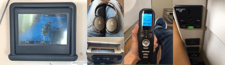 舊區域線商務艙的娛樂系統,USB以及電器插頭 圖文來自於:TripPlus