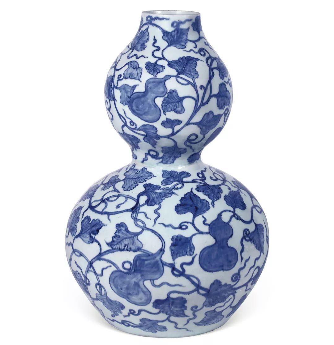 元 青花纏枝「福祿萬代」大葫蘆瓶(亞歷山大瓶) RMB 56,810,...