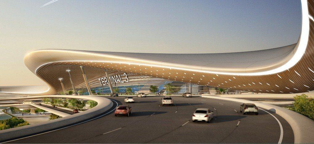 第三航廈設計外觀。 圖/桃機公司提供