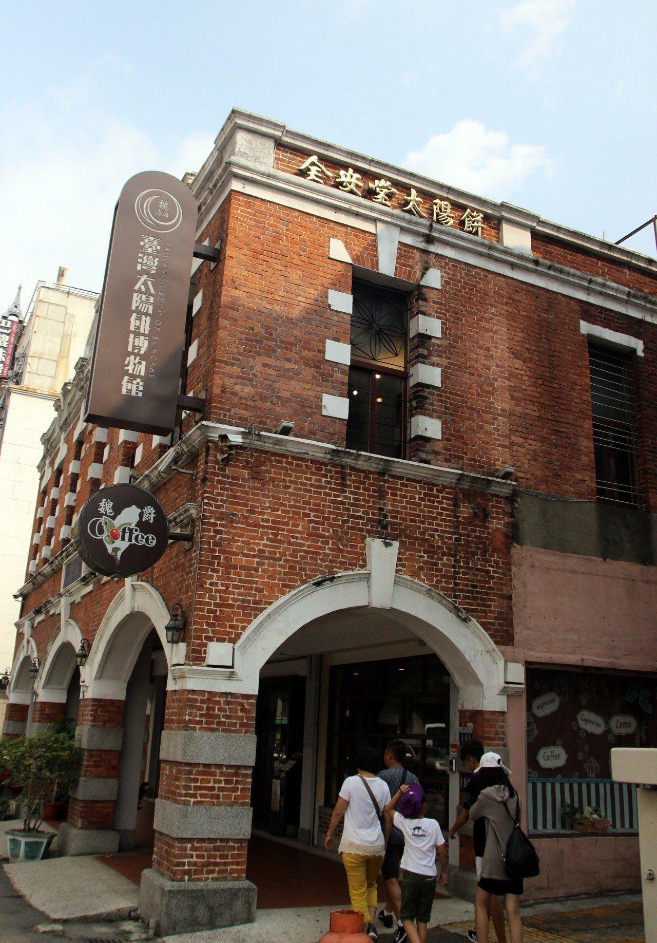 台中自由路二段是有名的太陽餅一條街,附近還有太陽餅博物館。記者林敬家/攝影