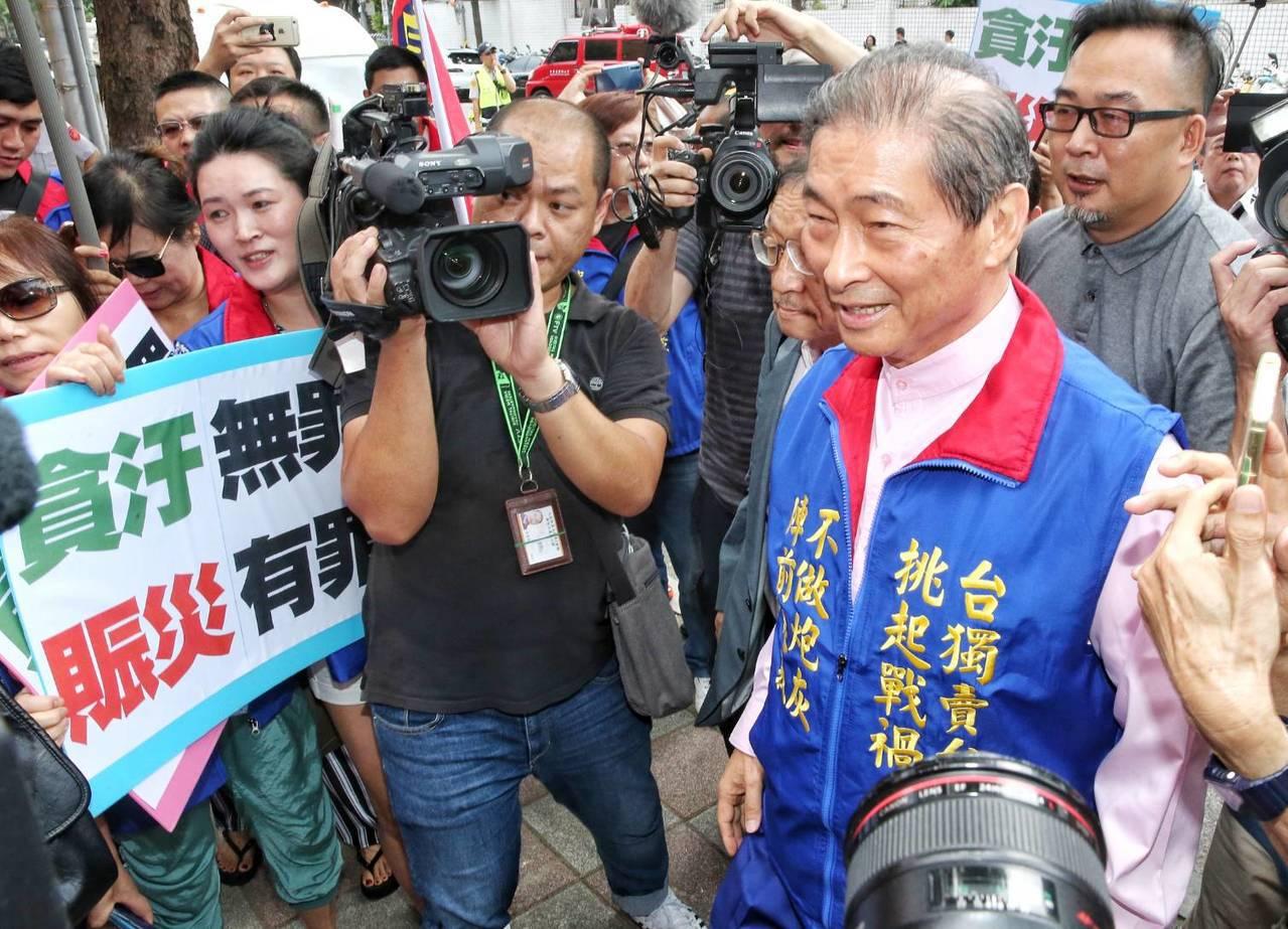 統促黨總裁「白狼」張安樂。記者鄭清元/攝影。