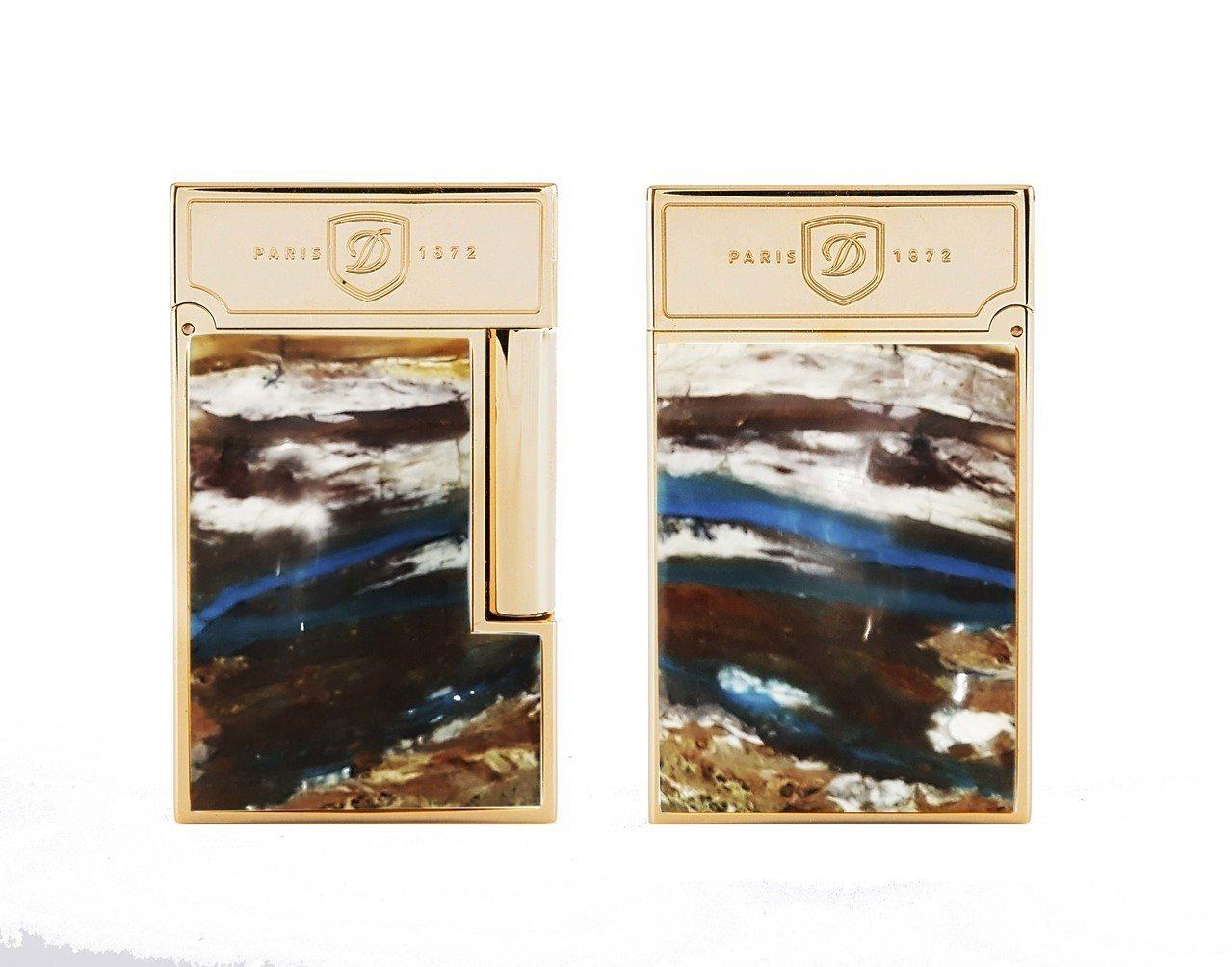 S.T. Dupont寶石打火機蛋白石款,限量288件,20萬8,000元。圖/...
