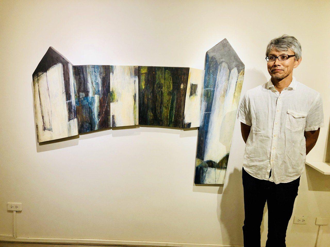 日本藝術家KITA MINORU是首次在國外展出,同時也是第一次出國。記者宋健生...