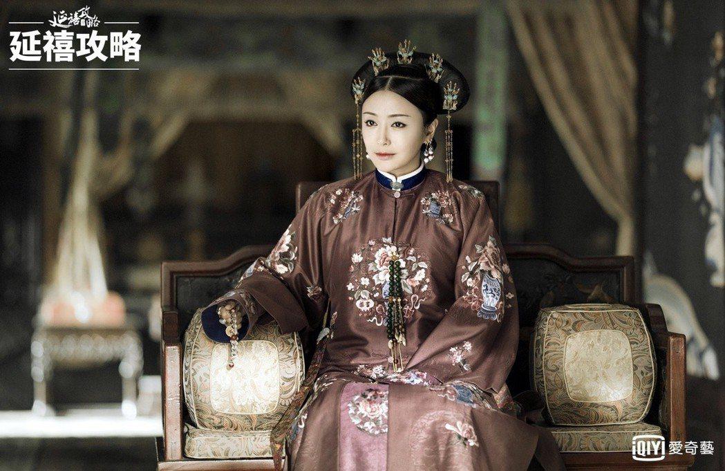 秦嵐飾演的「富察皇后」溫柔婉約,卻也藏有許多古代女性的心酸。圖/愛奇藝台灣站提供