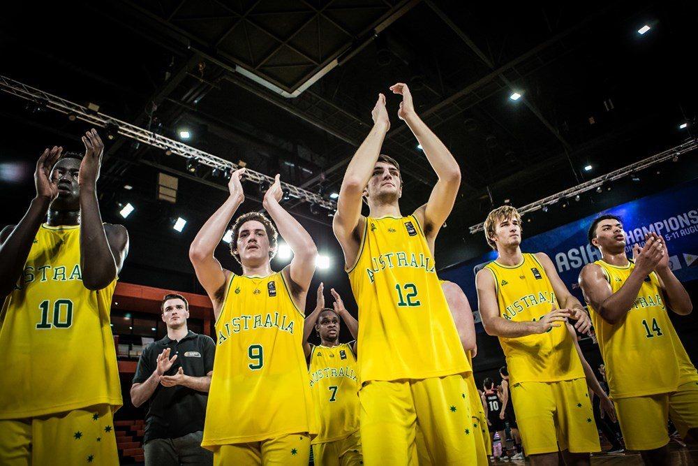 澳洲隊擊敗日本隊,取得4強門票。 圖/取自FIBA U18亞青男籃官網