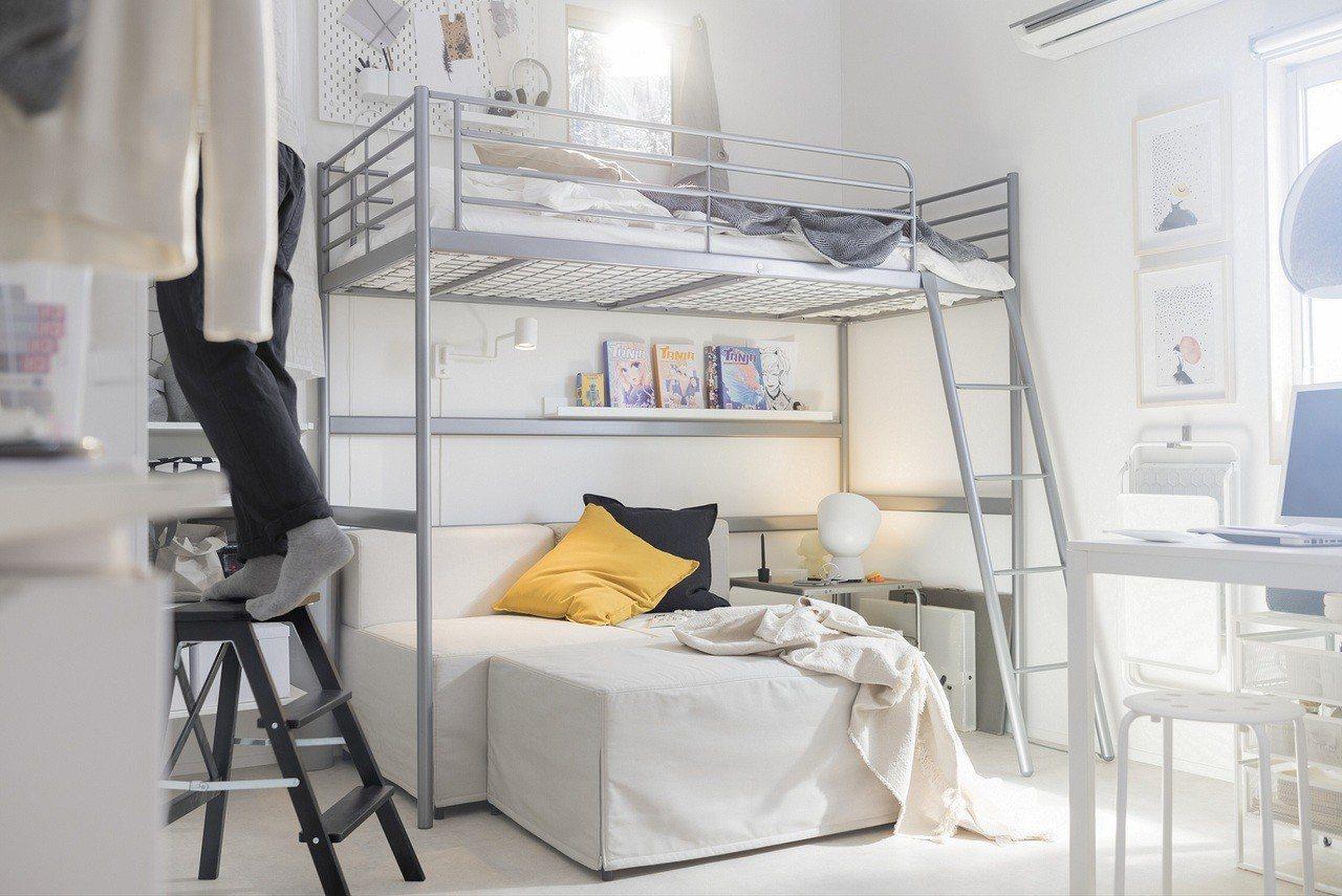 小空間可利用牆面增加收納。圖/IKEA提供