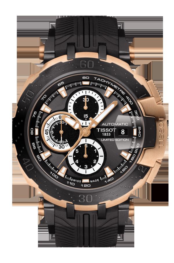 天梭T-Race MotoGPTM 2018限量版自動腕表,不鏽鋼表殼搭配玫瑰金...