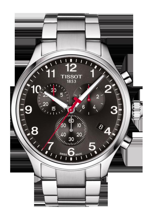 天梭Chrono XL韻馳系列2018亞運特別版腕表,不鏽鋼表殼、表鍊,採用 E...