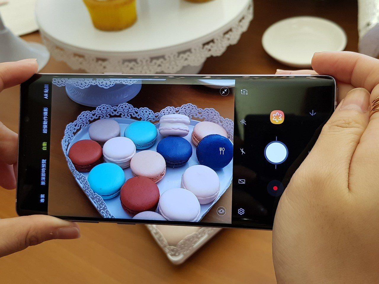 Samsung Galaxy Note 9首度搭載智慧影像辨識功能,可自動判定2...