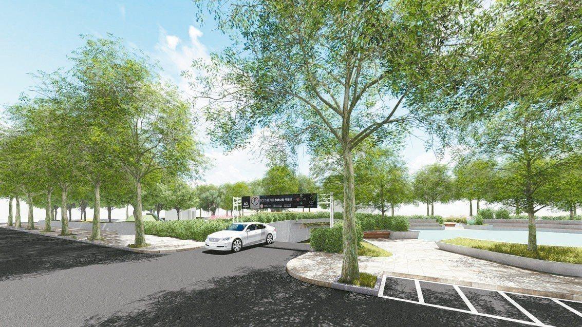 永康公園地下停車場將會配置智慧化的車牌辨識系統,採全自動智慧化服務。 圖/新北市...