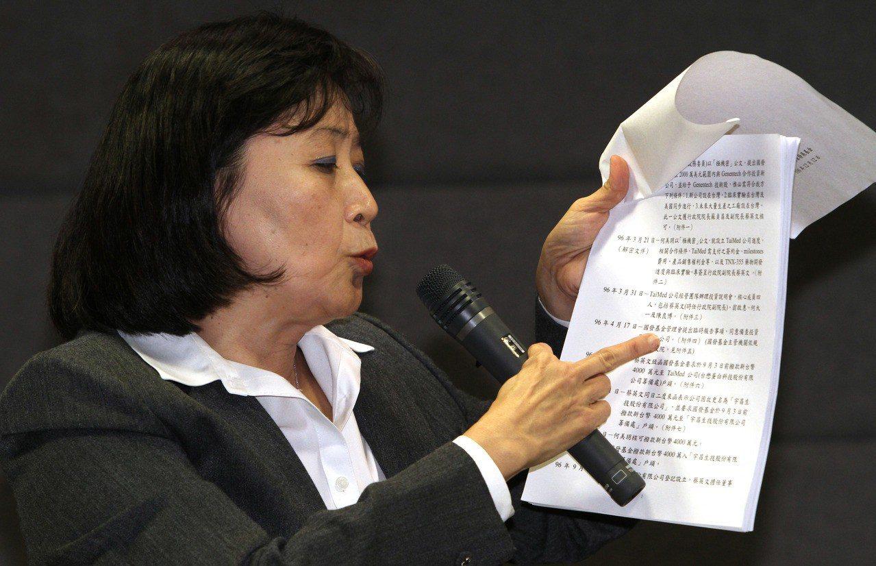 2011年12月,經建會主委劉憶如表示願意為誤植日期道歉。 圖/聯合報系資料照片