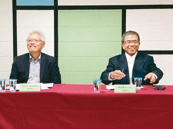 仁寶副董事長陳瑞聰(右)與總經理翁宗斌 記者蕭君暉╱攝影