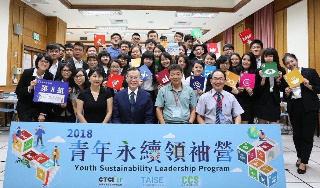 2018青年永續領袖營圓滿落幕。中鼎教育基金會/提供