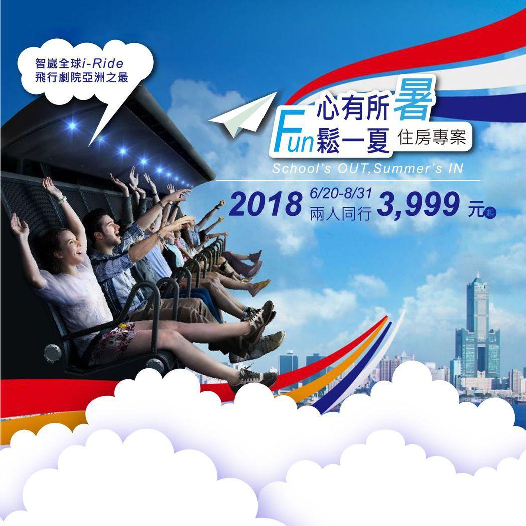住宿期間持i-Ride飛行劇院體驗券即可至智崴全球體驗中心實際搭乘 i-Ride...