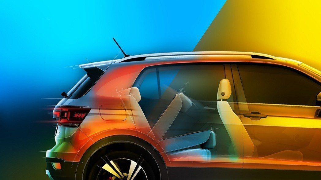 全新Volkswagen T-Cross後座可以透過6/4分離,讓行李廂容量一舉...