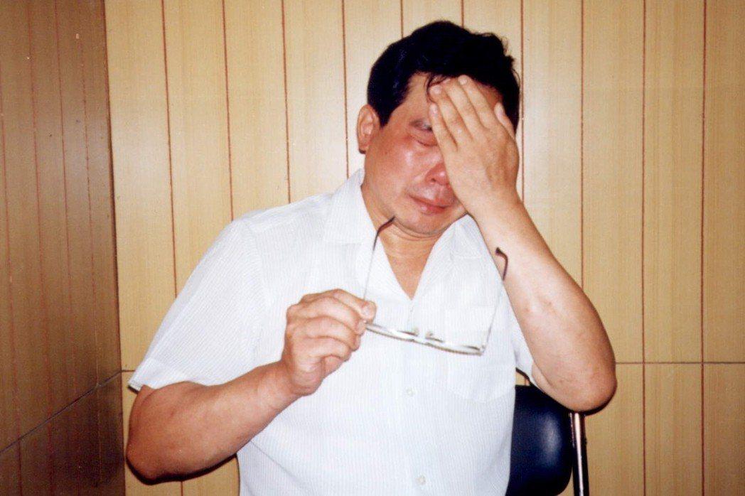 蘇炳坤說到傷心處,情緒激動。攝於1997年6月。 圖/聯合報系資料照